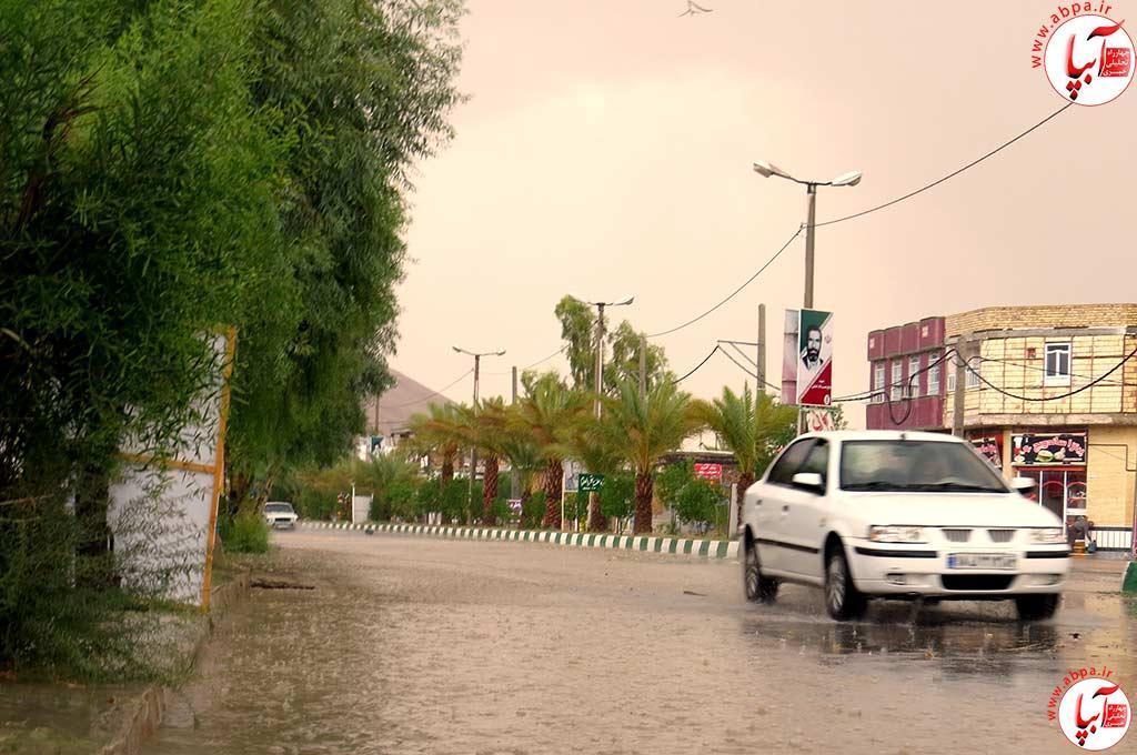 میزان بارش باران در فراشبند