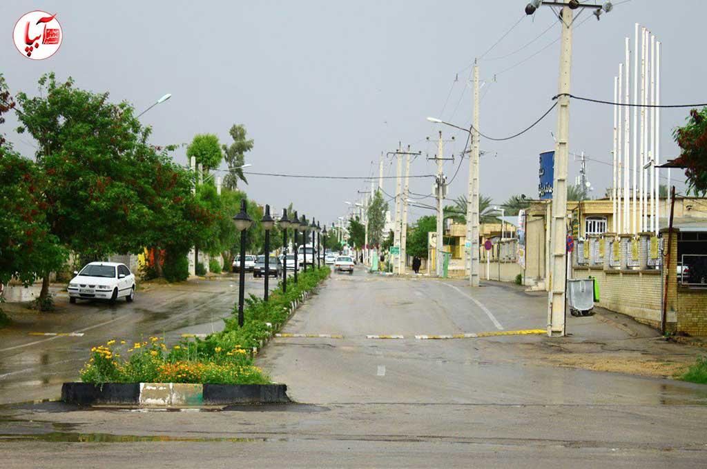 شهر فراشبند از یک نمای بهاریشهر فراشبند از یک نمای بهاری