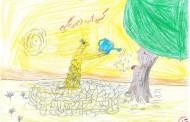 چند نقاشی زیبا از کودکان فراشبند