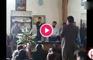 آواز به سبک پدر در مراسم سومین روز درگذشت زنده یاد علمدار کریمی
