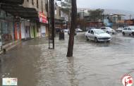بارندگی شدید باعث جاری شدن سیل در فیروزآباد شد/تصویر