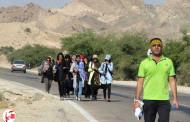 گزارش تصویری از پیاده روی جاماندگان اربعین در فراشبند (یک)