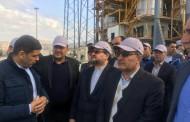 بازدید وزیر صنعت، معدن و تجارت از طرح در حال ساخت کربنات سدیم فیروزآباد