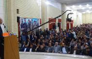 برگزاری جلسه پرسش و پاسخ و ارائه گزارش عملکرد با حضور کرمپور نماینده مجلس و  مدیران کل فارس در شهر فیروزآباد