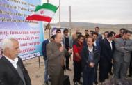 کلنگ زنی نیروگاه خورشیدی در شهر دهرم