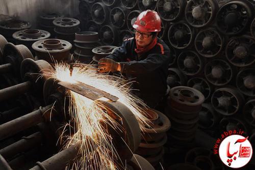 یک کارخانه تولید محصولات آهنی در چین