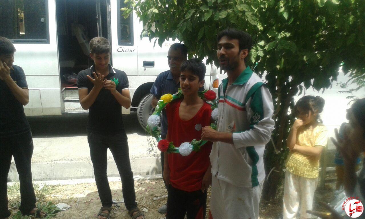 farashband-11 مراسم استقبال از اعضای تیم ووشو با حضور امام جمعه فراشبند