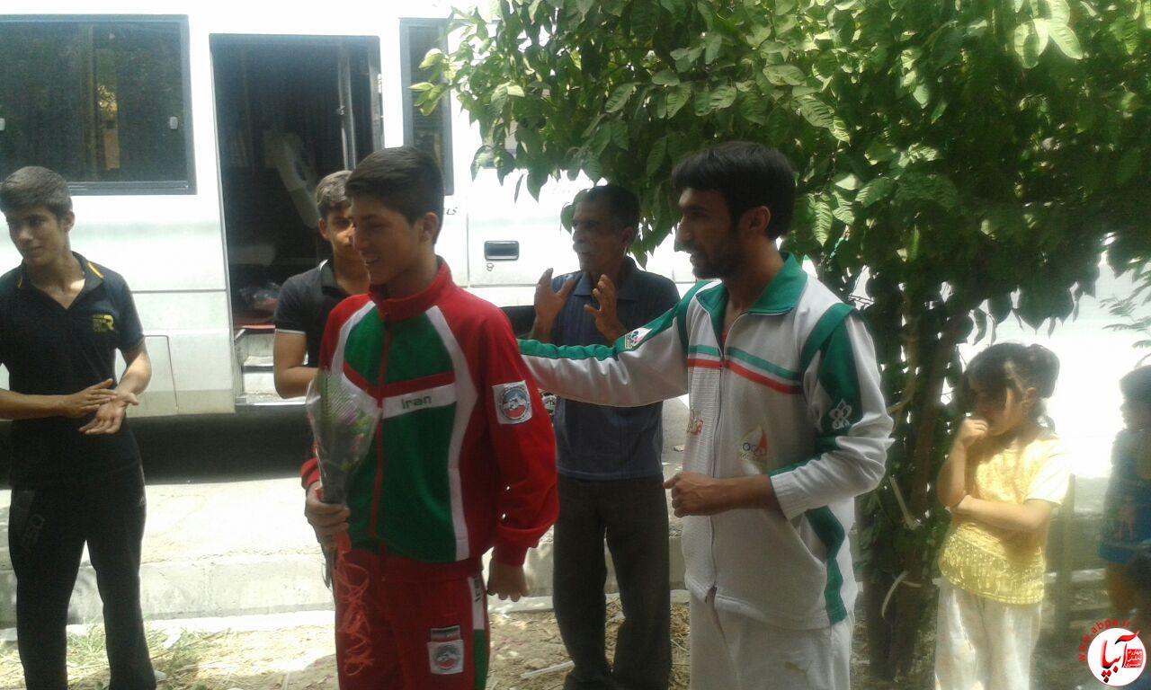 farashband-3 مراسم استقبال از اعضای تیم ووشو با حضور امام جمعه فراشبند