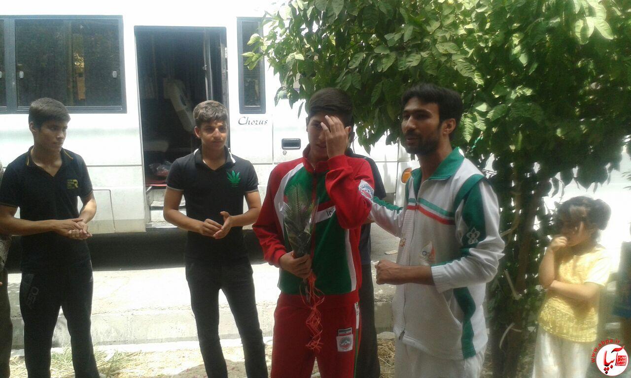 farashband-7 مراسم استقبال از اعضای تیم ووشو با حضور امام جمعه فراشبند