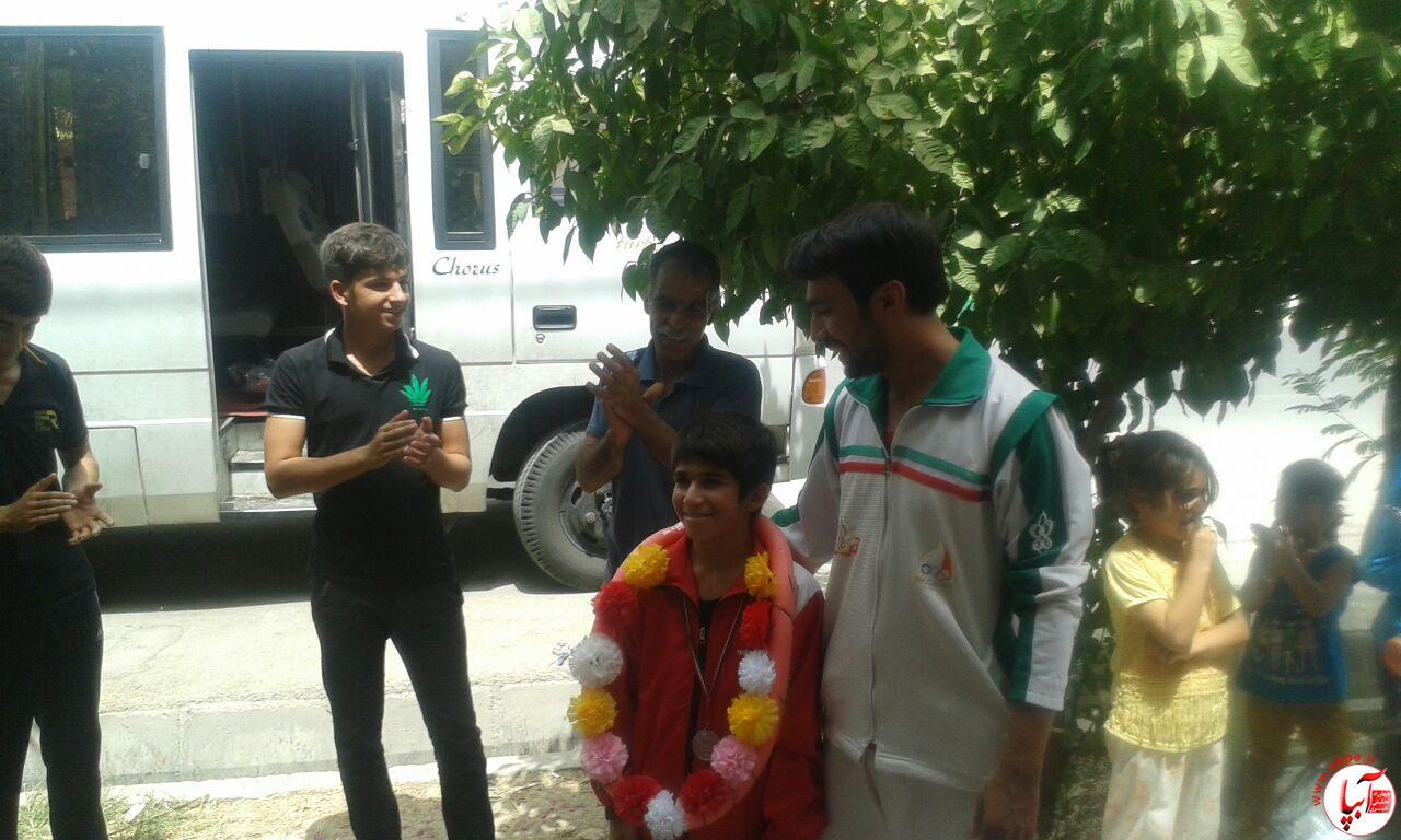 farashband-9 مراسم استقبال از اعضای تیم ووشو با حضور امام جمعه فراشبند