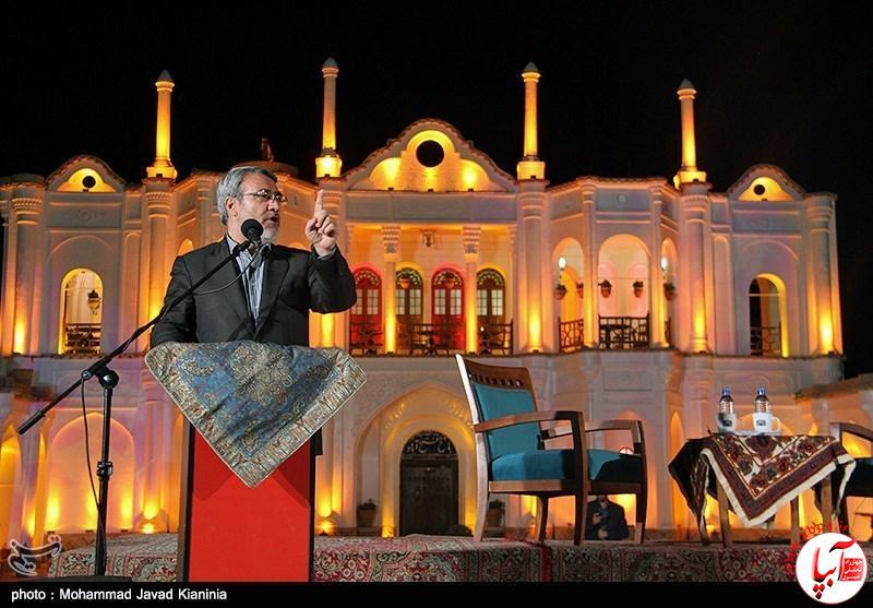 رحمانی فضلی وزیر کشور در مراسم افتتاح باغ فتح آباد کرمان