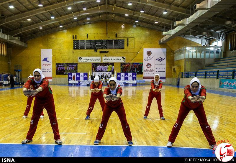 تمرین تیم ملی هندبال بانوان قبل از اعزام به مسابقات قهرمانی آسیا