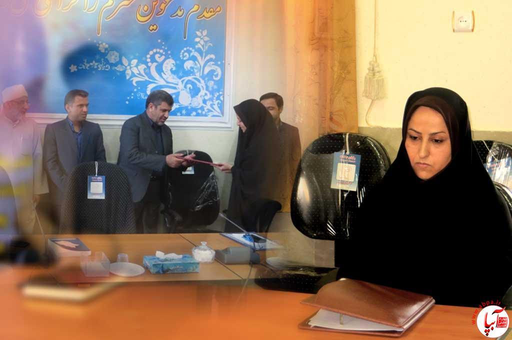 نخستین بخشدار زن استان فارس