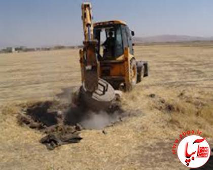 ۲۵ حلقه چاه غیرمجاز در شهرستان فراشبند پلمب شد