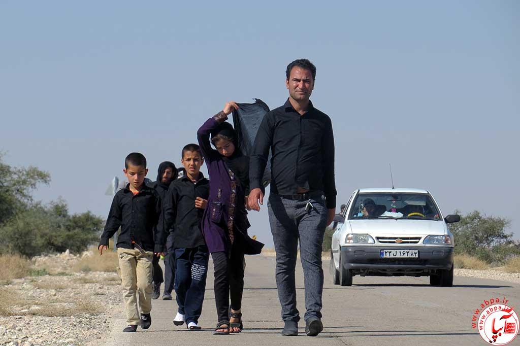 گزارش تصویری از پیاده روی جاماندگان اربعین حسینی(ع) در فراشبند (۱)