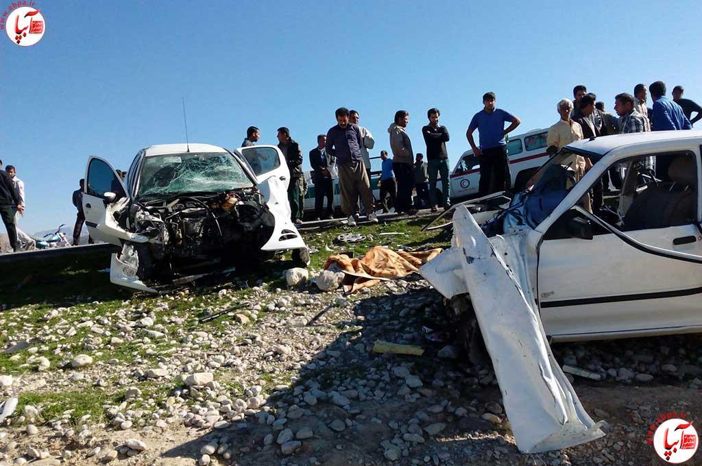 تصادف در جاده فراشبند چهار کشته برجا گذاشت