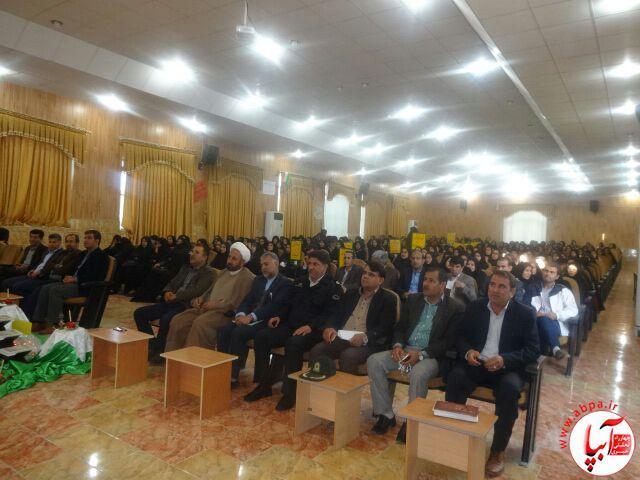 گزارش تصویری از افتتاح مسابقات قرآن دانش آموزی در فراشبند  (9)