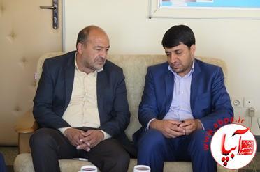دیدار کورش کرم پور با مدیر کل کمیته امداد امام خمینی(ره) استان فارس