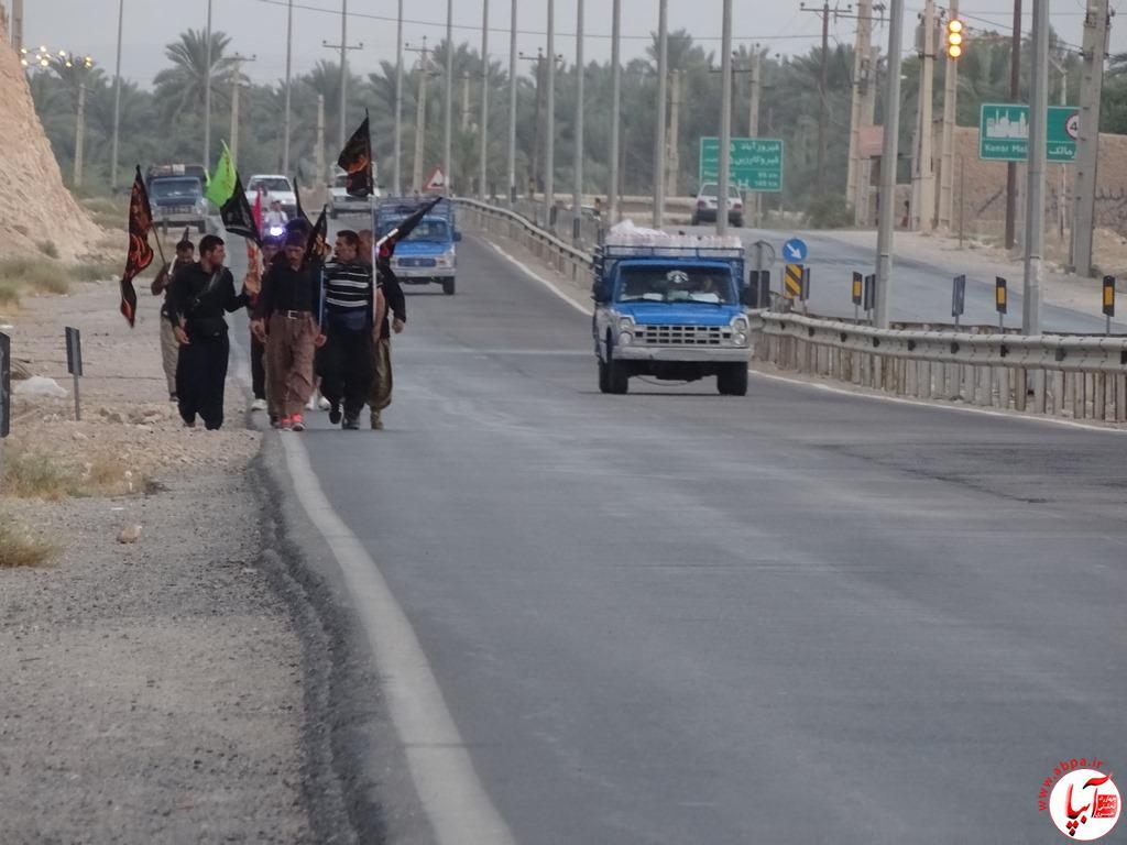 آبپا-25-1 عبور زائرین پیاده امام حسین از فراشبند / تصویر