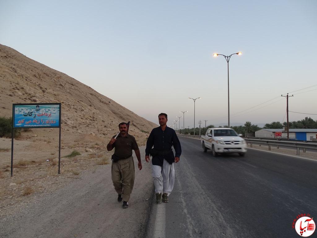 آبپا-29-1 عبور زائرین پیاده امام حسین از فراشبند / تصویر