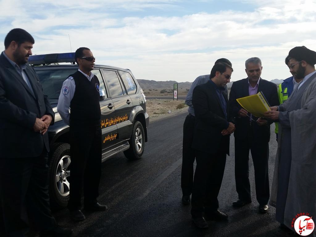 سفر یک روزه رئیس اورژانس کشور به فراشبند/ تصویر