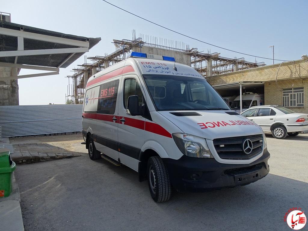 DSC09243 اختصاص یک دستگاه آمبولانس بنز به پایگاه امداد جاده ی احمدآباد-فراشبند/تصویر