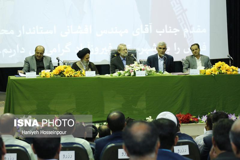 54241 گزارش تصویری از سفر رئیس مجلس به فیروزآباد