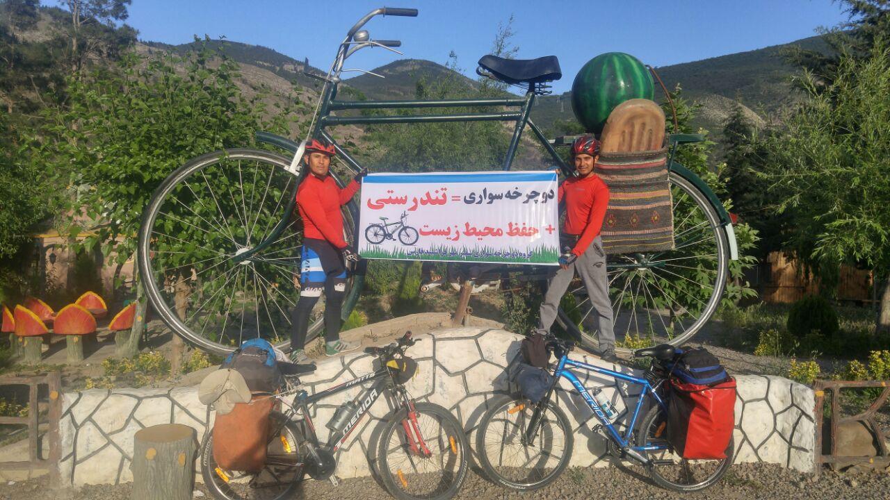 ایرانگردی دوچرخه سواران فراشبندی : اردبیل - تهران/ تصویر