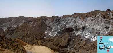135666 جاده جدید فراشبند – فیروزآباد در چنگال غولِ نمکی