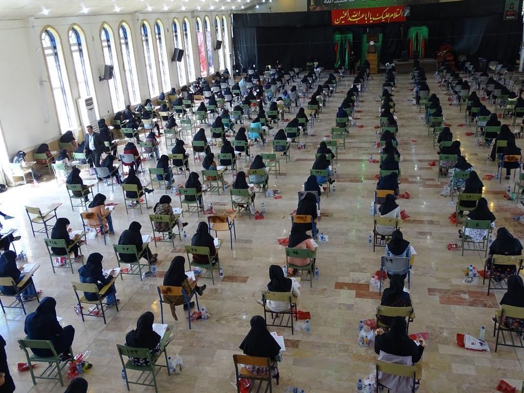 کنکور-21 برگزاری منظم کنکور سراسری 96 در فراشبند/تصویر
