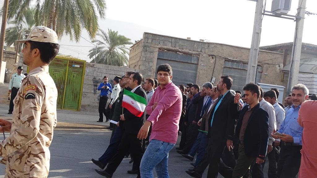 DSC04575 گزارش تصویری از راهپیمایی روز دانش آموز در فراشبند