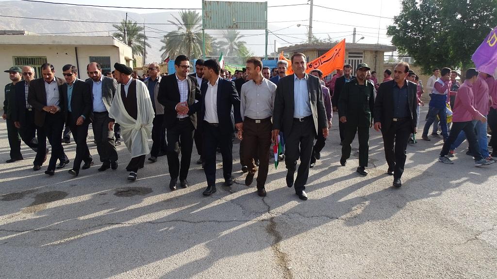 DSC04586 گزارش تصویری از راهپیمایی روز دانش آموز در فراشبند