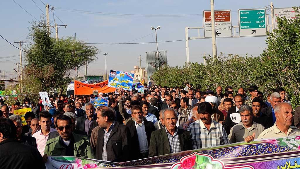 راهپیمایی 22 بهمن 96 در فراشبند