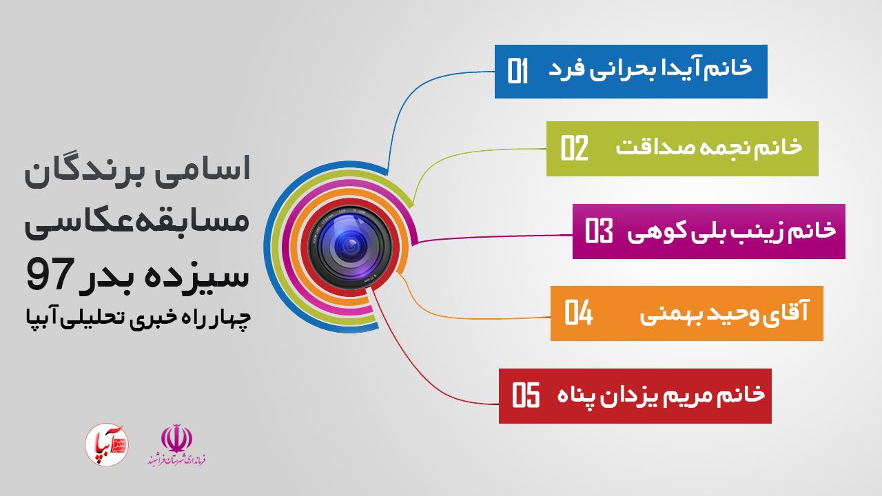 اسامی برندگان مسابقه عکاسی سیزده بدر 97