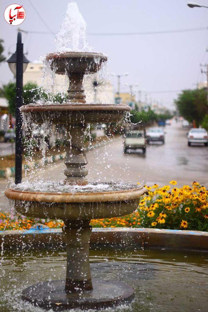 شهر فراشبند از یک نمای بهاری