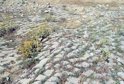 کشف سنگفرشی که شیراز را به کرمان میرساند
